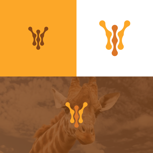 Animal logo with the title 'Giraffe Logo'
