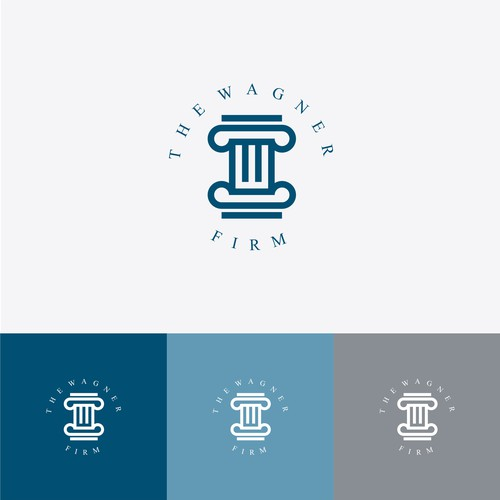 Legal and law firm logo with the title 'THE WAGNER FIRM'