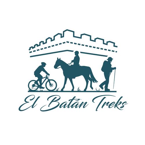 Rider logo with the title 'El Batan treks'