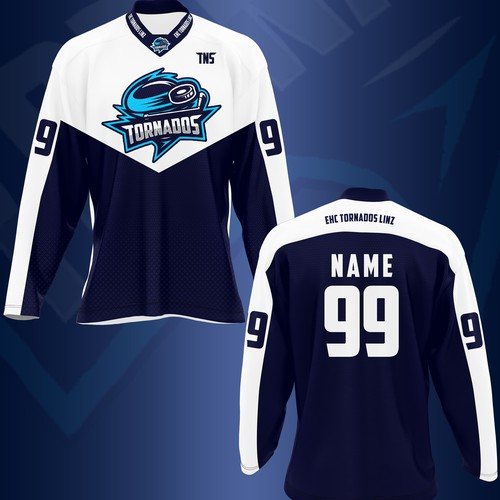 Ice hockey design with the title 'Ice Hockey Jersey'