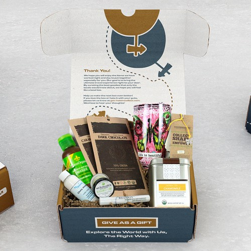 Subscription box design with the title 'Subscription Box Mockup'