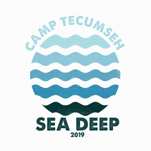Water t-shirt with the title 'Sea Deep Camp'