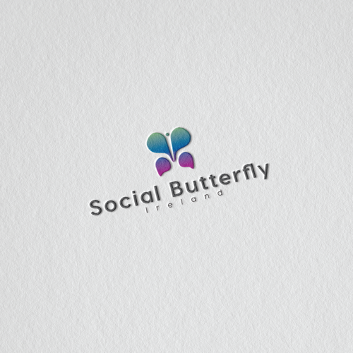 Butterfly brand with the title 'minimal logo concept for internet base company'