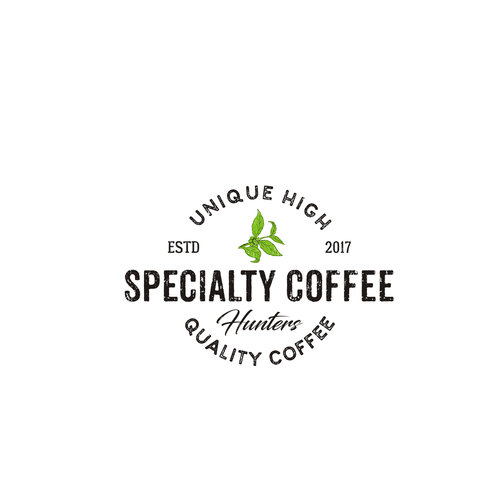 Sketchbook logo with the title 'Specialty Coffee Hunters'