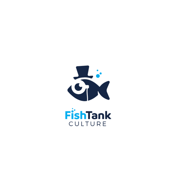 Aquatic logo with the title 'Smart fish'