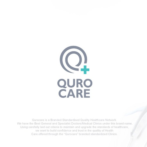 Clinic design with the title 'QuroCare Logo'