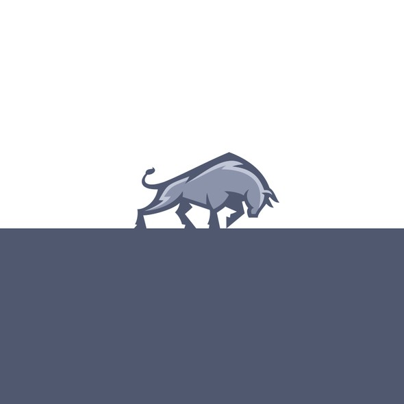 Bull design with the title 'Charging Bull logo for Holding company'