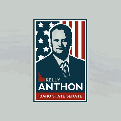 Politics logo with the title 'Kelly Anthon, Idaho State Senate Political Campaign'