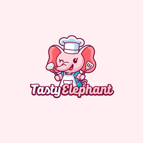 Kitchen logo with the title 'Tasty Elephant'