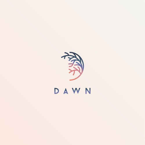 Coffee shop design with the title 'Elegant design depicting Dawn'