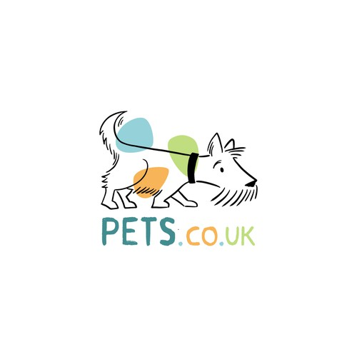 Cute design with the title 'Quirky dog logo'
