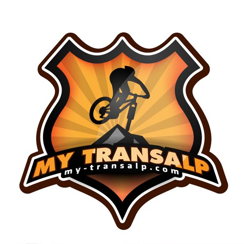 Mountain biking logo with the title 'logo for transalp sport event'