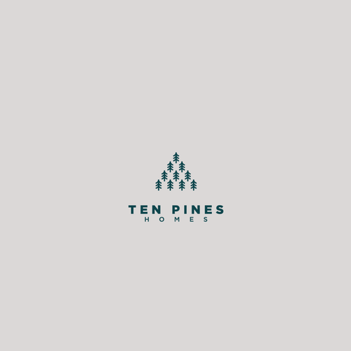 Pine tree design with the title 'Logo design for real estate'