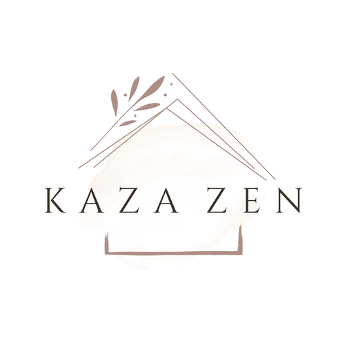 Zen design with the title 'Kaza Zen Logo and Brand Identity Design'