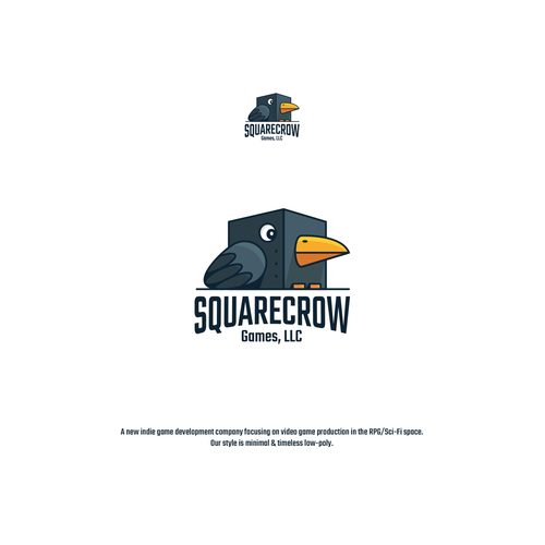 Cube logo with the title 'Squarecrow Games, LLC'