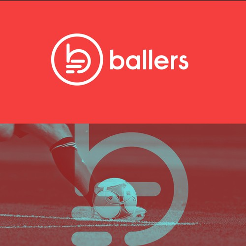 Football brand with the title 'Dynamic logo for a sports website'