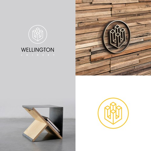 Formal logo with the title 'Logo concept for joinery. '