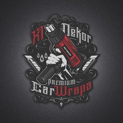 Tattoo artwork with the title 'XT Dekor Premium Car Wraps'