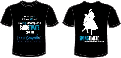 "Dance t-shirt with the title 'Design a cool T Shirt for our Dance Event ""Swingtimate"" 2015'"
