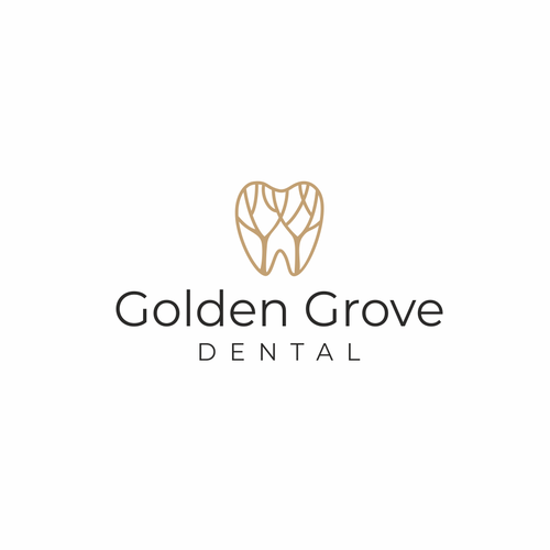 Tooth design with the title 'Logo design for a dental office'