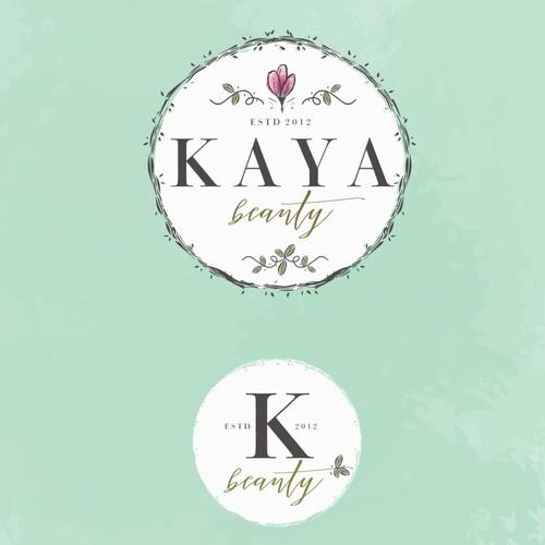 Salon design with the title 'KAYA BEAUTY'