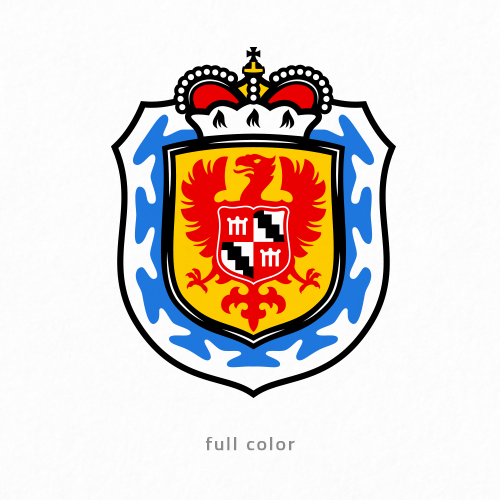 Royal logo with the title 'Family Crest'