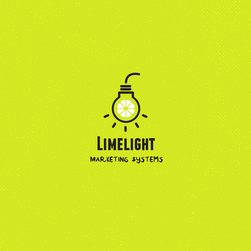 Lime design with the title 'Fresh and fun logo for marketing systems'