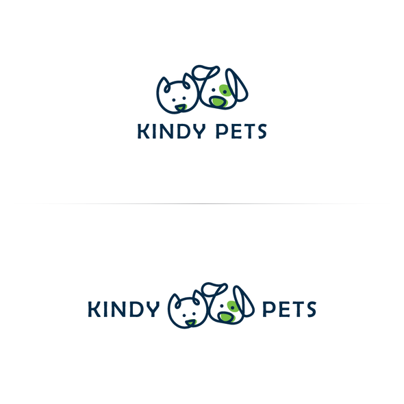 Pet store logo with the title 'Kindy Pets'