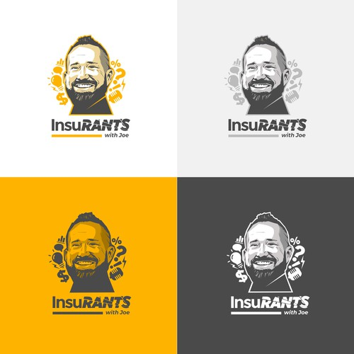 Podcast logo with the title 'Logo for an Insurance Podcast'