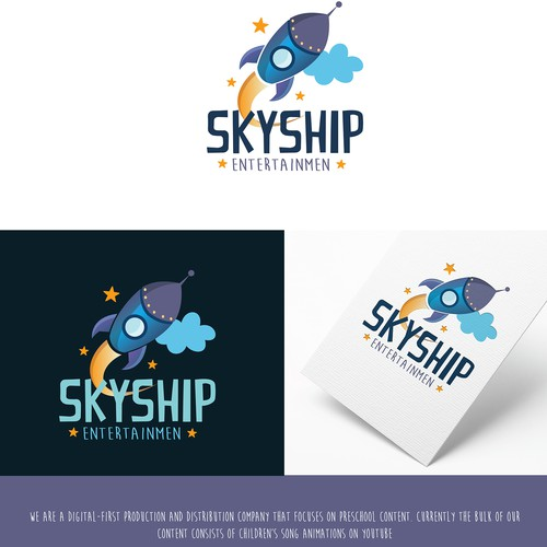 Digital art logo with the title 'Skyship Logo'