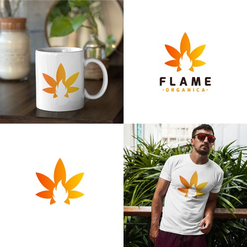 Modern logo with the title 'Fire Leaf'