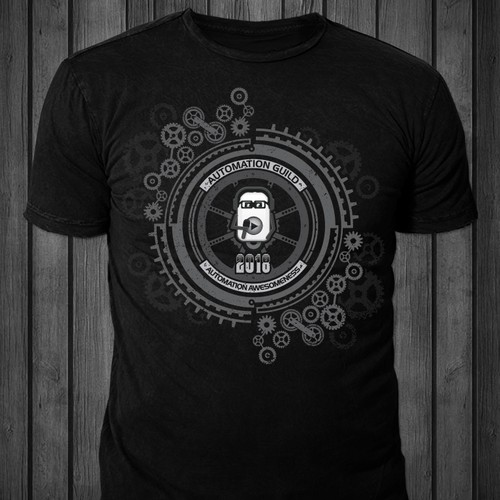 Spring design with the title 'T-shirt design for Automation Guild 2018'