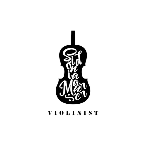 Violin logo with the title 'Logo for a violinist'