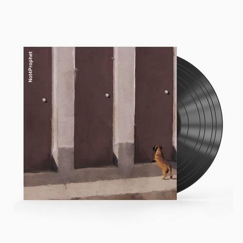 Album art design with the title 'Not4prophet album cover '