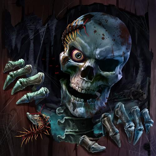 Skull artwork with the title 'Rotten Skull'
