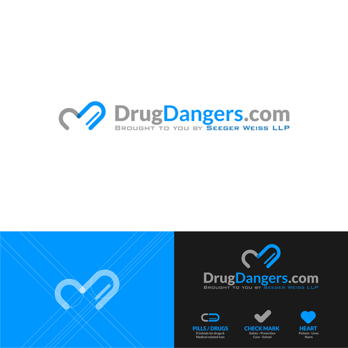Drugs logo with the title 'drug dangers logo concept'