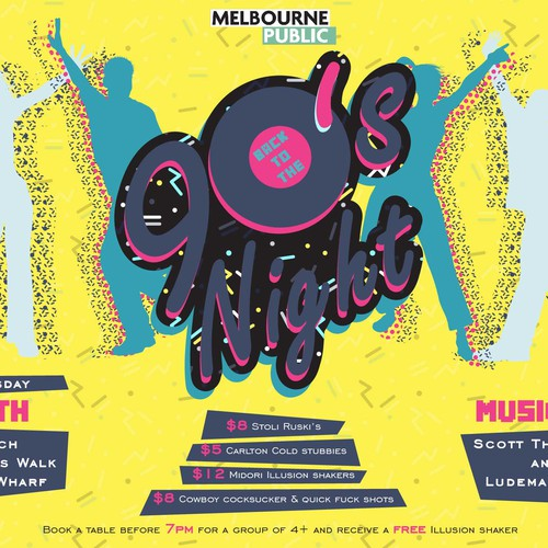 Melbourne design with the title 'poster'