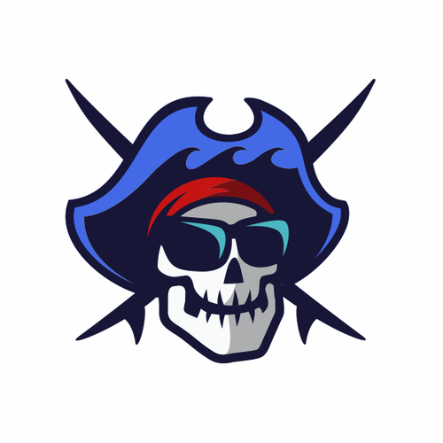 Surf club logo with the title 'SwellPirate'