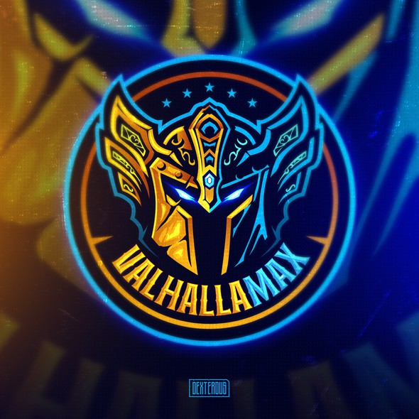 Helmet logo with the title 'Logo for VALHALLAMAX'