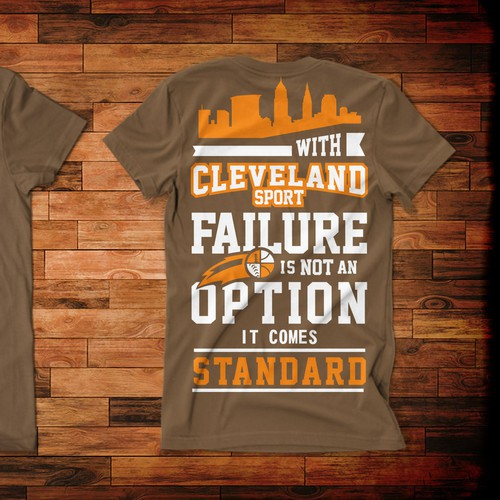 Basket design with the title 'Sports in Cleveland--Fifty years of Tears The T-shirt'