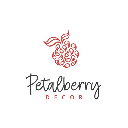 Petal design with the title 'Logo for a home decoration company'