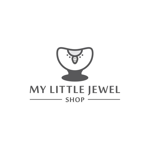 Necklace logo with the title 'My Little Jewel Shop'