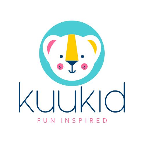 Cute animal design with the title 'Kuukid logo'