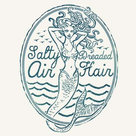 Mermaid t-shirt with the title 'T-shirt design for surf-wear brand'