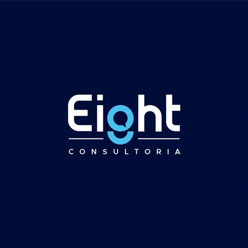 Eight logo with the title 'Eight Consultoria'
