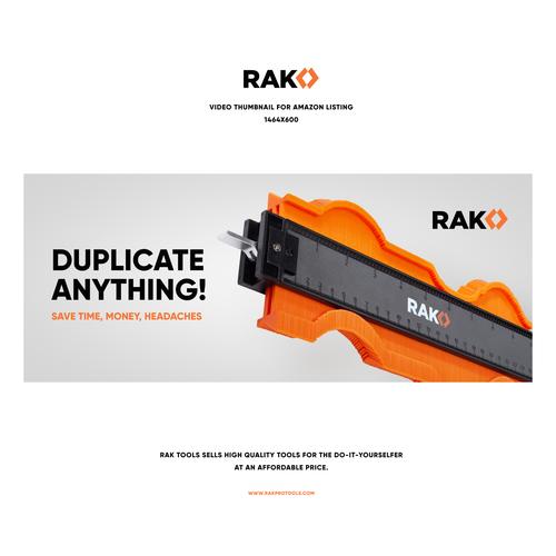 Tool design with the title 'RAK'