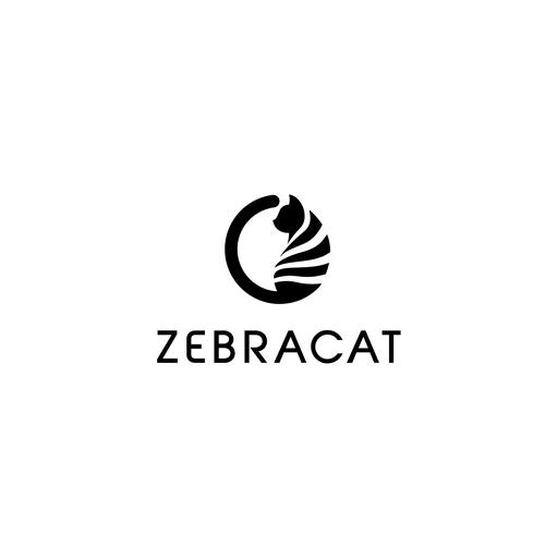 Zebra design with the title 'Bold logo for ZebraCat'