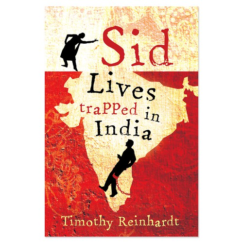 """Comedy design with the title 'Book cover for """"Sid Lives Trapped in India""""'"""
