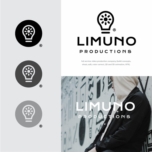 Bright idea logo with the title 'Lumino Productions'