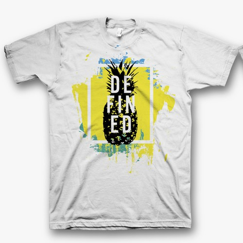 Stencil design with the title 'DEFINED t shirt design'